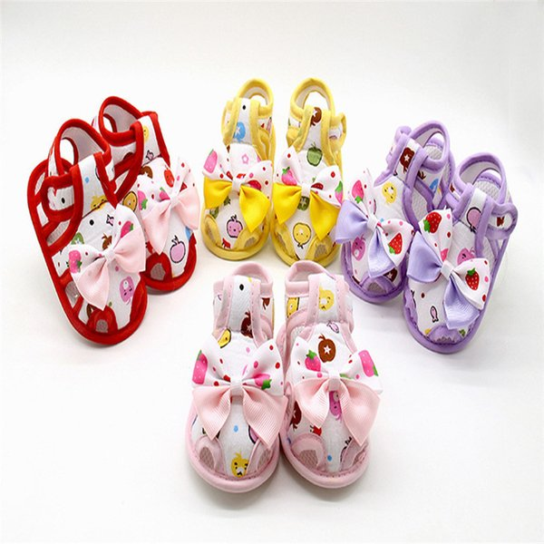 Baby shoes Newborn Boys Girls First Walkers Baby Bowknot Soft Sole Anti-slip Shoes Baby Booties scarpe bambina #5J09