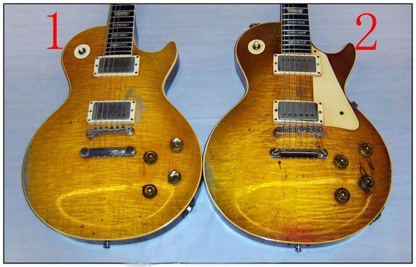 Пользовательские магазин Гэри Мур реликвия гитара старинные лимон взрыв клен топ дань в возрасте 1959 коллекционеры электрогитара выбор #1 #2 лучшие продажи