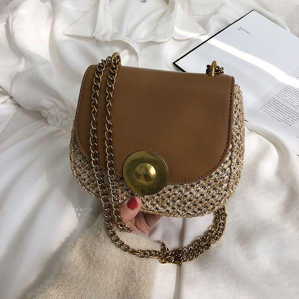 Women leather handbag for 2018 Personality Saddle Bag Vintage women Shoulder bag high quality ladies flap clutch Black/White