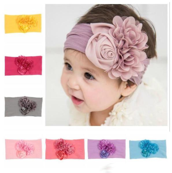 Baby Girls Rose Flower Hairband Soft Elastic Headband Hair Accessories Childrens