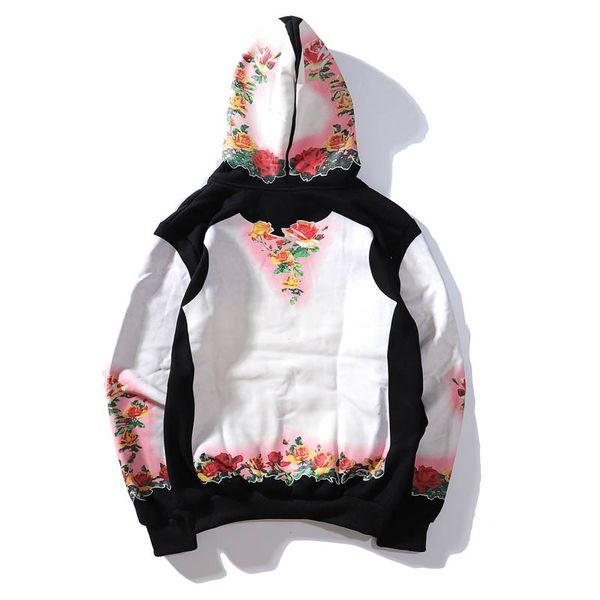 Marca Mens Designer Hoodie de alta qualidade padrão EUA clássico Moda TANU Floral Pullovers caixa de correio Suprême hoodies algodão Logo casal