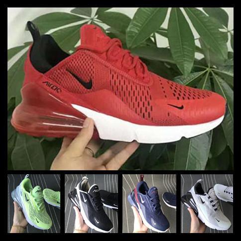 [Con reloj deportivo]men women shoes Nike 270 AIR MAX Parra caliente del sacador de fotos azul para hombre zapatos corrientes Universidad Triple Blanco Rojo oliva voltios Habanero