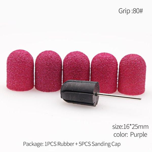 Heap Nail Art Equipment 5 stücke 16 * 25 80/120/150/180/240 Schleifkappen 1 stück Gummidornschneider für Pediküre polierende Schleifband für PED ...