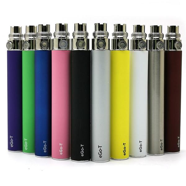 Disponibile Ego-t batteria E Cigs ego T Batterie E Cigarette Fit 510 Discussione Atomizer Clearomizer vaporizzatore MT3 CE4 CE5 650/900 / 1100mAh