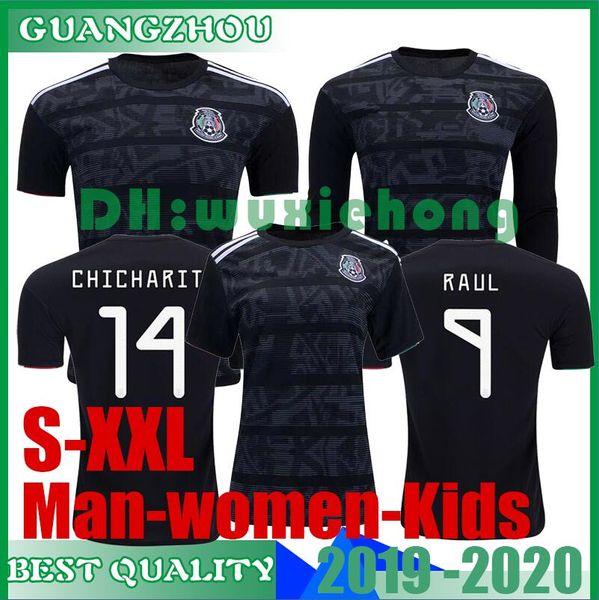 19 20 GOLD CUP Mexico Soccer Jerseys LOZANO CHICHARITO Football Shirt 19 20 Black Women Kids Mexico Long Sleeve LAYUN Camisetas de Futboll