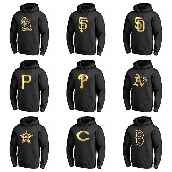 Top Qualität Baumwolle Neu 2020 Sweatshirt Herren Damen Leichtathletik Phillies Pirates San Padres Giants Cardinals Gold Kollektion Pullover Hoodie