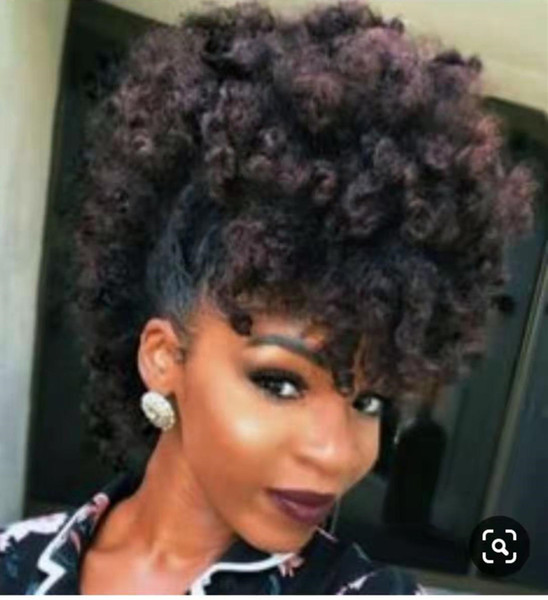 Diva Natural Curly Weave Pony Tail Hairstyle African American Ponytail Human Hair Easy Ponytail Extension For Black Women 140g Hair Pieces For