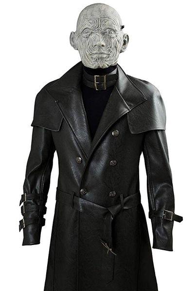 Resident Evil 2 Remastered Edition COS Deri Tyrant Komple Cosplay Kostüm Cadılar Bayramı Tyrant Maske Erkek