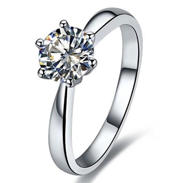 VS1 G 1.5CT Prueba Corazones y flechas positivos Moissanite Anillo de diamante Anillo de compromiso Solitario Mujeres Oro blanco de 18K
