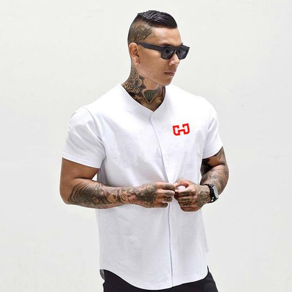 Jersey de beisebol dos homens New Arrival Cropped Tee Homens T-shirt de Manga Curta Tshirt Sportswear Q190425
