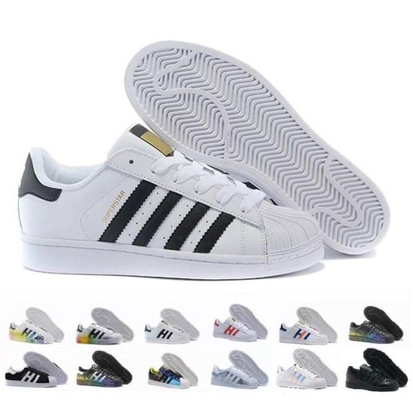 Free Shipping Superstar White Black Pink Blue Gold Superstars 80s Pride Sneakers Super Star Women Men Sport Casual Shoes EU SZ36-45 Zapatos