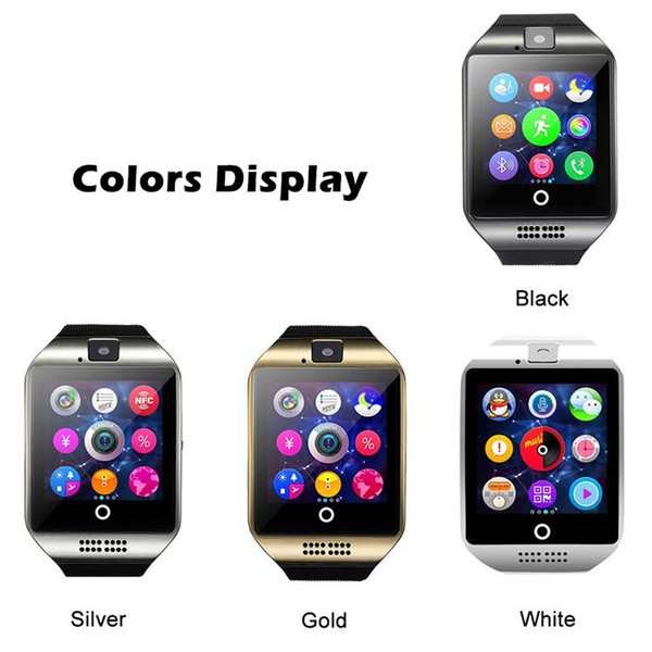 best selling For Iphone 6 7 8 X Bluetooth Smart Watch Q18 Mini Camera For Android iPhone Samsung Smart Phones GSM SIM Card Touch Screen