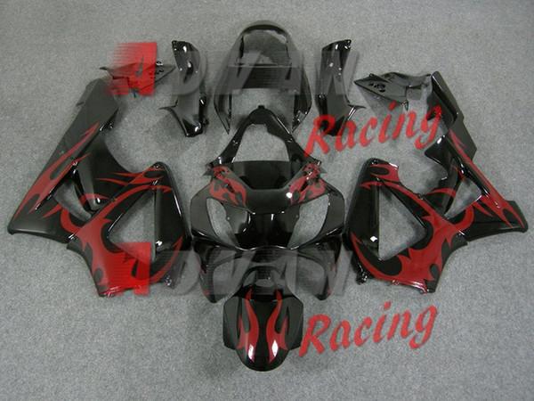 Novo kit de carenagens da motocicleta ABS para HONDA CBR 929RR 929 2000 2001 CBR929RR 00 01 CBR 900RR carenagens set legal vermelho preto