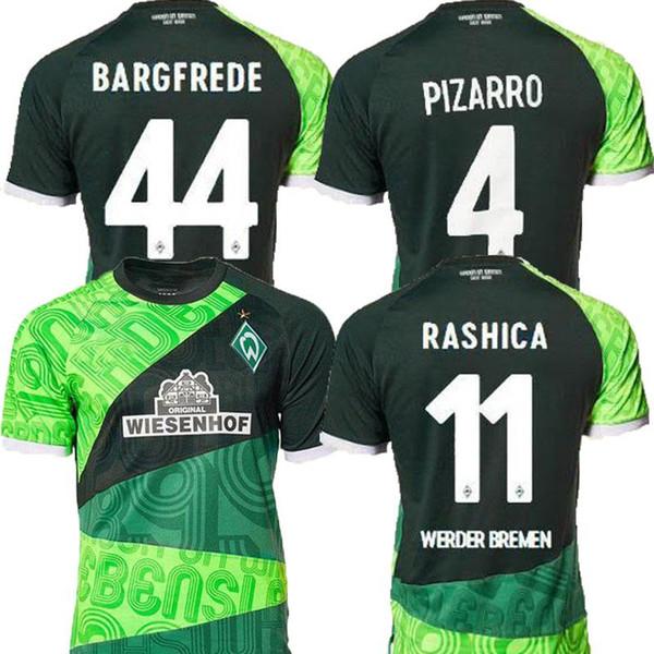 2019 SV Werder Bremen PIZARRO futbol formaları şort 19 20 Werder Bremen KRUSE spor gömlek 120 yıl Hatıra yeşil gömlek