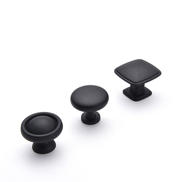 best selling Alloy Black Round Cabinet Knobs and Pulls Furniture Handles and Pulls for Kitchen and Bathroom Cabinets Dresser Cupboards Drawers Shutters