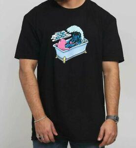 Pink Dolphin Hommes De Bain BlaO-Cou T-shirt En Gros Vêtements Vague Amusant Skate Cool NWT