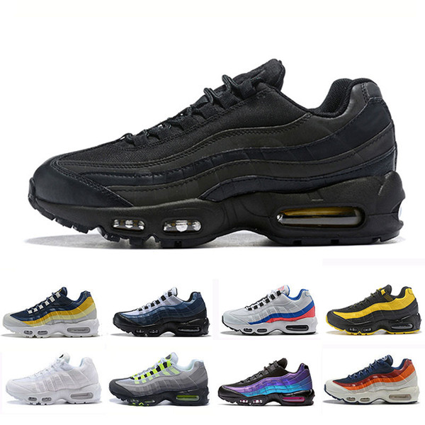 Compre Nike Air Max 95 Shoes Laser Fuchsia Chaussures OG Hombre Zapatos Para Mujer Negro Rojo Blanco Entrenador Deportivo De Alta Calidad De Deportes