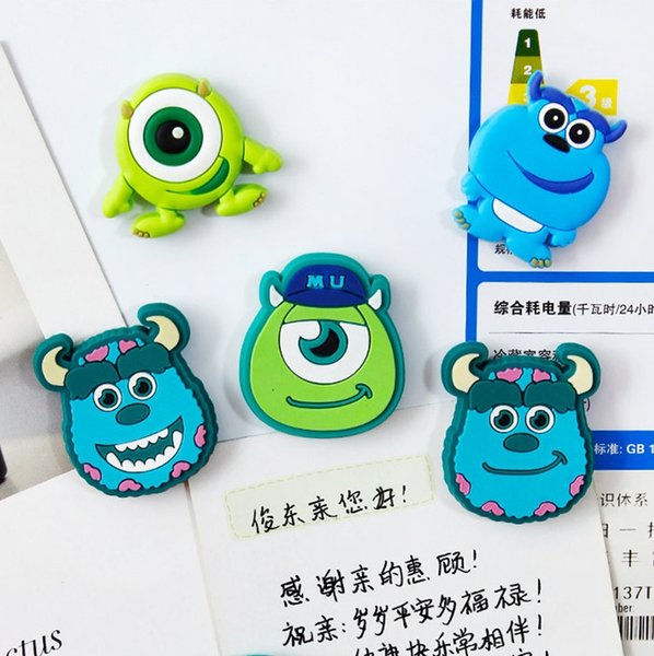 Cute silicone Cartoon anime fridge magnets whiteboard refrigerator magnetic sticker message Magnets stickers Kids toy gift Home Decoration w