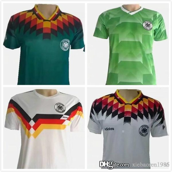 purchase cheap 4b985 0b27e 2019 1990 World Cup Germany Retro Soccer Jersey KLINSMANN Matthäus 1988  1994 World Cup Home Away Germany Retro Football Jersey From Xiebaoren1936,  ...