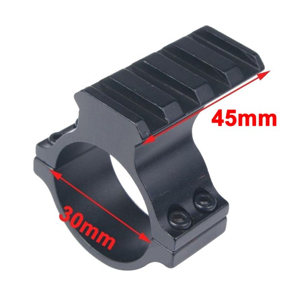 Aluminum Alloy 30mm Ring Weaver Picatinny 20mm Rail Mount Adapter For Scope Tube Flashlight Laser Sight Hunting Accessories.
