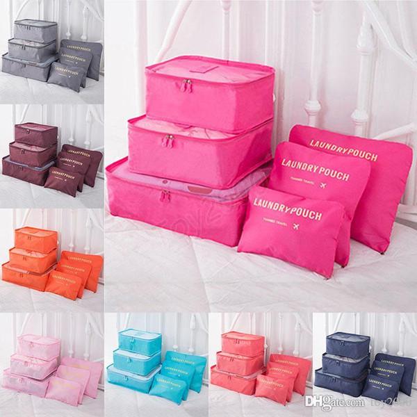 6 Pcs/Set Travel makeup bag Home Luggage Storage Clothes Storage Organizer Portable Cosmetic Bags Bra Underwear Pouch Storage Bags kids toys