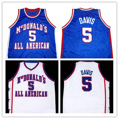 2019 new High Quality #5 BARON DAVIS McDONALD'S ALL AMERICAN Mens Basketball Jersey Custom any name and number all size