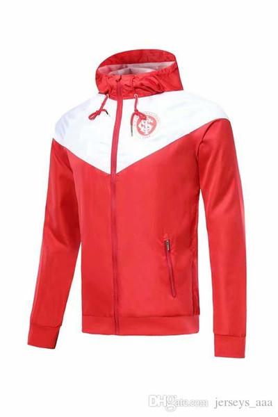 1920 1920 CLUB Internacional 2019 2020 N. LOPEZ D. ALESSANDRO POTTKER KALİTE 19 20 Brezilya Uluslararası Kırmızı ve Beyaz Rüzgâr Kıyafeti
