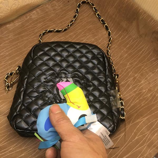 2019 Nova cadeia de ouro prismática bolsa de ombro mulheres de alta qualidade Carteira Com logotipo Clutch Shopping Bag Organizador de maquiagem