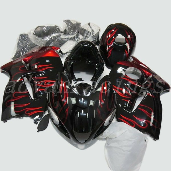 High quality New ABS motorcycle fairings fit for SUZUKI Hayabusa GSX1300R 1997-2007 GSX 1300R 97 98 99 00 01 02 07 body set custom red flame