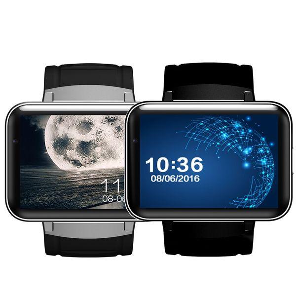 DM98 Bluetooth Smart Watch 2.2 pouces Android OS 3G Smartwatch Téléphone Dual Core 1.2GHz 512MB RAM 4GB ROM Caméra WCDMA GPS