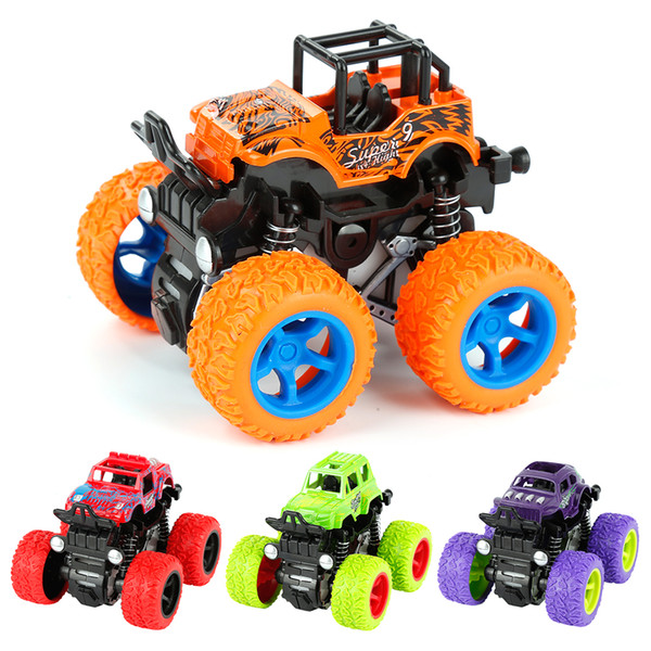 Children's mini four-wheel drive inertial off-road vehicle toy plastic pull back climbing buggy children's toy car birthday party gift