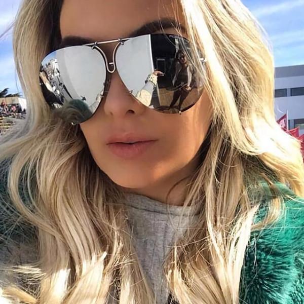RFOLVE Retro Pilot Sunglasses Women Unique Design Removable Replacement Lens Sun Glasses UV400 Goggles Ladies Shades Gafas R136