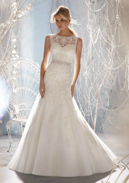 fast shipping in stock handmade beading belt lace appliques and tulle bridal gown mermaid cheap plus size 20W wedding dresses