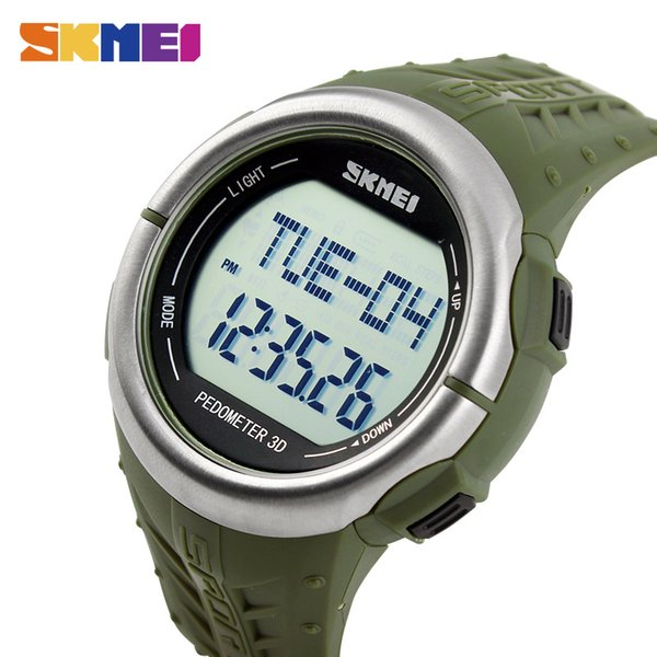 Skmei nabız spor saatler açık havada dijital saatı kalori izleme pedometre led çalar saat izle 1058