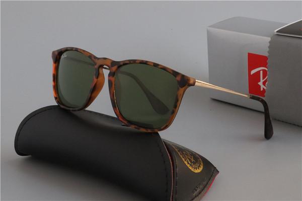 2019 Ray Brand Sunglasses Vintage Pilot wayfarer Sun Glasses Bans UV400 Men Women Ben 45mm 54mm Glass bain Lenses With Case