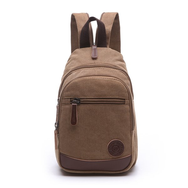 Unisex European and American Style Fashion Classic Travel Outdoors Back Packs Portable made of High Quality Canvas Cross Body Backpacks