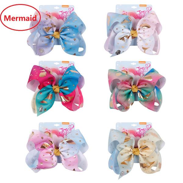 Handmade New Mermaid Hair Bows Haarspangen Haarspangen Mädchen Haarschmuck Geburtstagsgeschenke Boutique-Shop 2019 B11