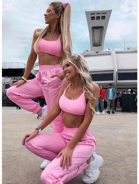 pantalon Harun femmes costume de sport conviennent gilet sexy pantalon flip deux pièces ensemble