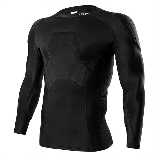 Janus High Density Sponge Soccer Goalkeeper Jersey Protective Shirt Anti-collision Top Long Sleeve Flexible Fit JA528 #146709
