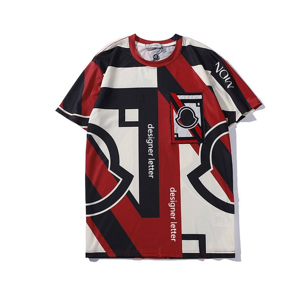 Moda Mens T Shirt No Verão Meng Kou Mens Top Marca Com Painéis de manga Curta Camisa Tamanho S-XXL