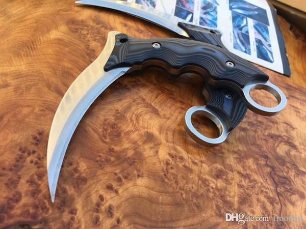 Юрский призрак когти 7CR17MOV Коготь нож охота складной карманный нож нож выживания G10 Xmas подарок для человека 1 шт. Бесплатная доставка Adnb