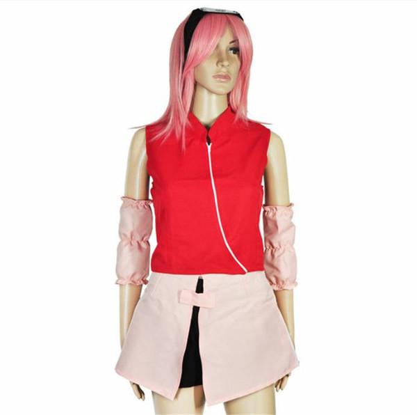 Großhandel Sakura Haruno Cosplay Anime Kostüme Qualitäts Frauen Halloween Cosplay Sets Props Kostüm Partei Kleidung Von Championtop, $57.21 Auf