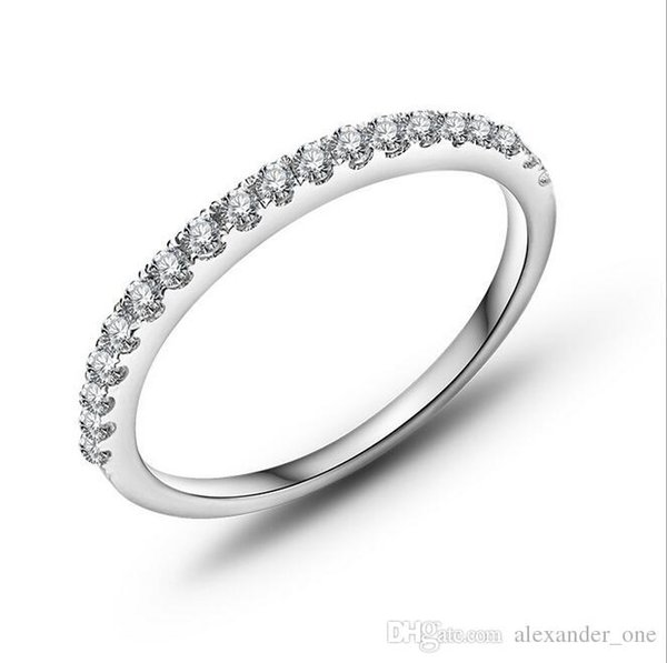 Nova Moda Venda Quente Genuine Áustria Anel de Cristal Fine Jewelry Simples Rodada Anel Fino para Mulheres Elemento Anel
