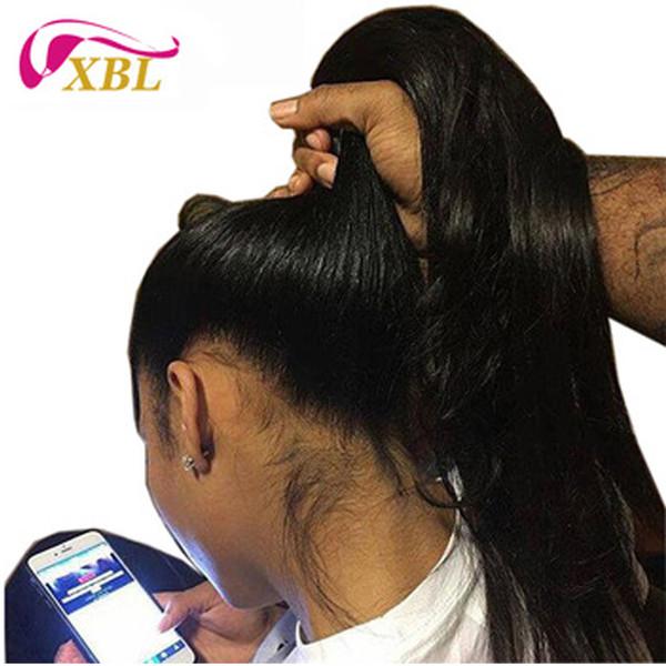 Parrucca anteriore del merletto dei capelli umani 13BY6 della parrucca dei capelli umani del merletto umano Parrucca mezza dei capelli umani vergini
