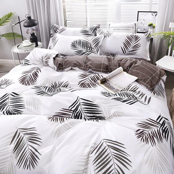 Les nouvelles feuilles d'impression 4pcs Haute Qualité / set Literie Lit Linings Housse de couette drap de lit taies d'oreillers Couverture