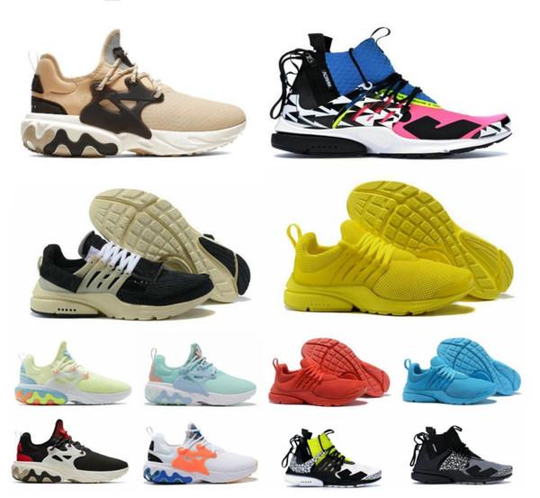 2019 réagir presto 2.0 acronyme de X racer hommes femmes chaussures de course espadrilles Psychedelic Lava baskets Protection Protection Dharma avec chaussures de boxe