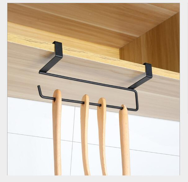 Portaequipajes de diafragma Estante para armario Estante para arreglo de gabinetes de cocina D esk percha pared papel toalla percha Home Storage Organization