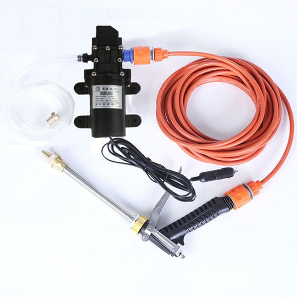 1pc 12V 100W High Pressure Electric Car Washer Water Pump Portable Spray Cleaner Hose Car Water Sprayer Styling