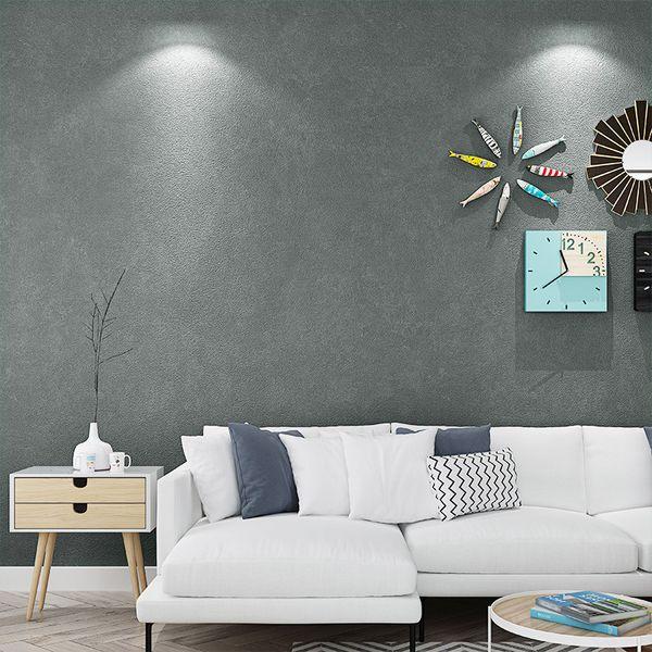 Weiß Schwarz Grau Retro Tapete Vintage Rustikal Zement Beton Putz Textur PVC Wohnzimmer Tapetenrolle