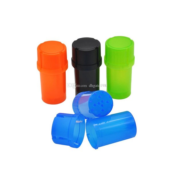 Cheap 3part 40mm Plastic Tobacco Grinder Grinder smoking herb grinder with Med Container Crusher herb storage box